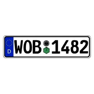 Germany Wolfsburg Random Authentic Eec Europlate License Plate