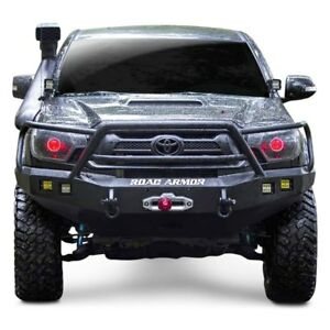 For Toyota Tacoma 12 15 Bumper Stealth Series Full Width Black Front Winch Hd