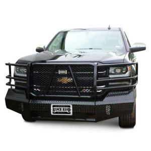 For Chevy Silverado 1500 16 18 Bumper Summit Series Full Width Tough Black Front
