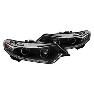 For Acura Tsx 09 10 Cg Black Ccfl Halo Projector Headlights W Led Drl