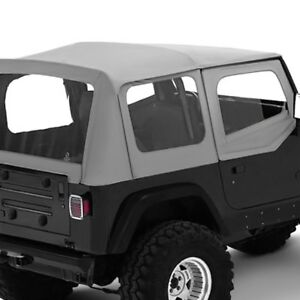 For Jeep Wrangler 1988 1995 Bestop 51120 09 Replace a top Charcoal gray Soft Top