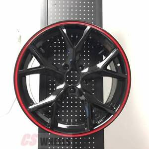 18 Type R Style Fits Honda Civic Si New Gloss Black Alloy Wheels
