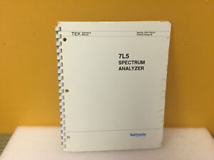 Tektronix 070 1734 01 7l5 Spectrum Analyzer Operators Manual