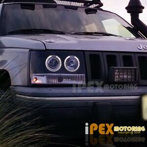 1993 1996 Jeep Grand Cherokee Zj Halo Projector Led Headlight Signa
