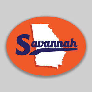 Savannah Georgia Oval Vinyl Decal Sticker City Town College University