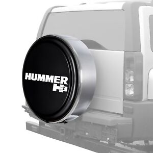 For Hummer H3 06 10 32 Masterseries Black Spare Tire Cover W Polished Ss Ring