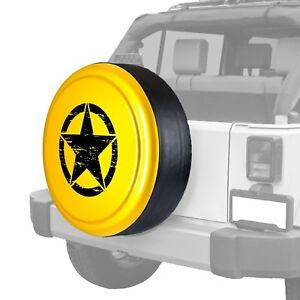 For Jeep Wrangler Jk 18 32 Tire Cover Rigid Series Detonator Yellow Spare Tire