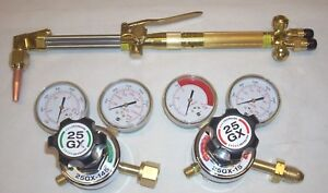 Harris Cutter Pack 85 Torch 25gx Regulator Set Cga 510 Cutting Torch Kit