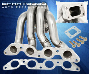 For 84 86 Toyota Corolla 86 1 6l 4age T25 Stainless Steel Turbo Exhaust Manifold