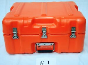 Hardigg Shipping Cases Used Al 1814 0504 Orange Two Pieces