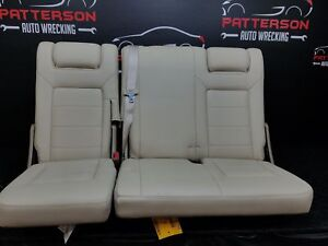 2003 Ford Expedition Foldable Rear 3rd Row Back Seat Set Leather W Seat Belts