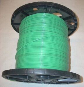 12 Awg Green Stranded Copper Electrical Wire Cable Thhn Made In Usa 38 34 Lbs