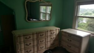Vintage French Provincial 2 Dresser Set With Mirror