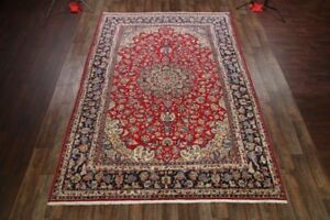 Great Condition Vintage Floral 10x14 Isfahan Najafabad Persian Oriental Area Rug
