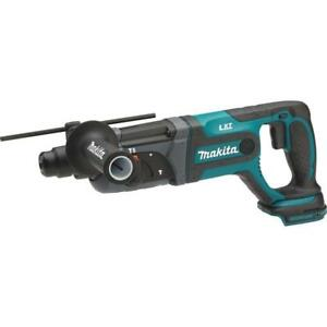 Makita Rotary Hammer Drill Rubber Soft Grip Led Cordless 18 v Li ion 7 8 In