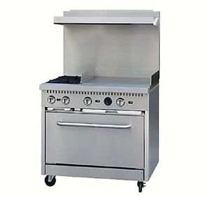Pantin 36 commercial Stainless Combination 2eyed Range Oven Stove Ps36 g24 18399