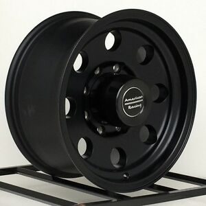 17 Inch Black Wheels Rims American Racing Baja Ar172 Chevy Gmc Dodge Truck 8 Lug