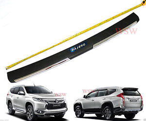New Mitsubishi Montero Pajero Sport Rear Tailgate Bumper Guards Cover 2015 2016