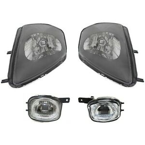 Headlight Kit For 2000 2002 Mitsubishi Eclipse Left And Right 4pc