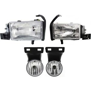 Headlight Kit For 1999 2001 Dodge Ram 1500 Left And Right 4pc