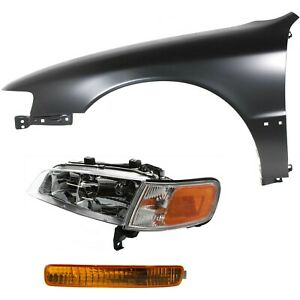 Headlight Kit For 1996 1997 Honda Accord Front Left 3pc
