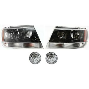 Headlight Kit For 2004 Jeep Grand Cherokee Left And Right 4pc