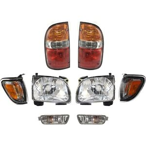Headlight Kit For 2001 2004 Toyota Tacoma Left And Right 8pc