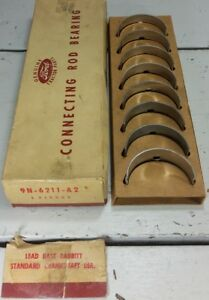 Nos Ford Tractor Rod Bearing Set Of 4 9n 6211 a