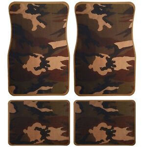 Universal Set 4pcs Car Floor Mats Rubber With Urban Camouflage Design 31