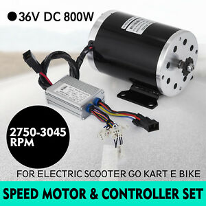 36v Dc Electric Brushed Speed Motor 800w And Controller 3000 Rpm Atv 25h 11t