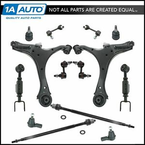 Control Arm Ball Joint Tie Rod End Link Steering Suspension Kit 14pc For Element