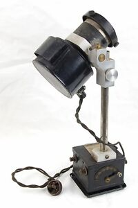 Steampunk Industrial Microscope Illuminator Lamp Electrical Device Bausch Lomb