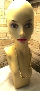 Female Flesh Tone Mannequin Form Head Wig Hat Scarf Jewelry Display