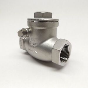 Fnw Fnw16b200f 3 4 Stainless Steel 200 Wog Threaded Check Valve