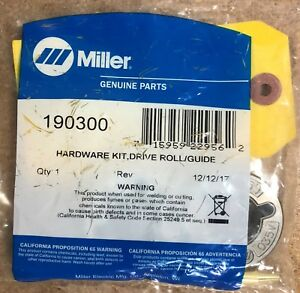 Miller 190300 Kit drive Roll 035 045 V groove 2 Roll For Miller Wire Feeders