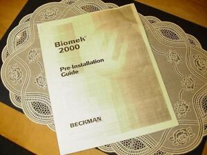 Lot Of Beckman Coulter Biomek 2000 Manuals Guides Parts Lists And More