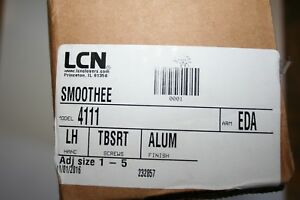 Brand New Lcn Smoothee Door Closer 4111 Lh Tbsrt Alum Eda Size 1 5