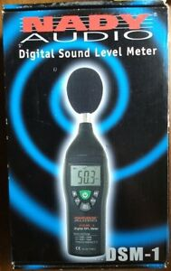 Nady Dsm 1 Digital Spl Meter Very Good Digital Sound Level Meter Original Box