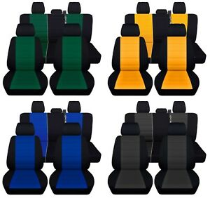 Truck Seat Covers 2015 2018 Ford F 150 Full Set Black With 23 Color Inserts Abf