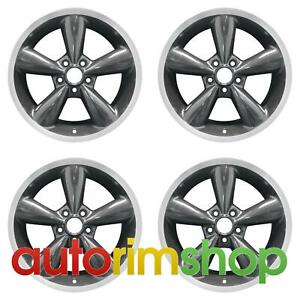 Ford Mustang 2006 2009 18 Factory Oem Wheels Rims Set Machined With Charcoal