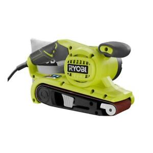 Ryobi Portable Belt Sander 3 in. x 18 in. OnOff Trigger Dust Bag Powerful