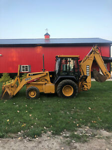 John Deere 310e Backhoe 4x4 Extendahoe Cab W heat Low Hours Clean Needs Nothing