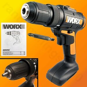 Worx Wx169l 20 volt Lithium ion 3 8 In Drill Driver 0 1350 Rpm With Driver Bits