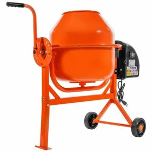 Portable 2 1 5cu Ft Electric Concrete Cement Mixer Barrow Machine Mixing Mortar