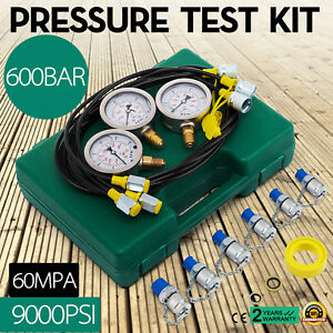 Hydraulic Pressure Test Kit For Excavator Stainless Steel Accurate Gauge Set