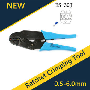 Insulated Wire Terminals Connectors Ratcheting Crimper Crimping Tool 22 10awg