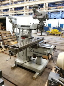 Bridgeport Series Ii Special Turret Milling Machine 2 H p Vari speed Head
