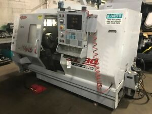 Haas Sl 30tb Big Bore Cnc Lathe Haas Bar Feed Live Tooling Michigan video