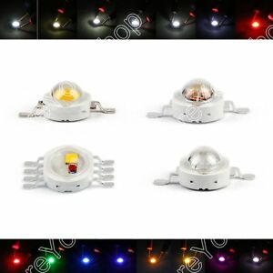 5w Led Beads Lamp Diodes High Power Chip Whi Red Blu Grn Ir Spectrum Ue