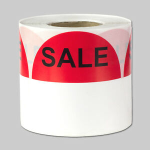 Circle Sale Labels With Write Your Own Price Blank Stickers 2 Round 10 Rolls